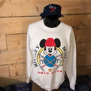 Classic 90s Mickey Mouse Polo Club sweatshirt. XL